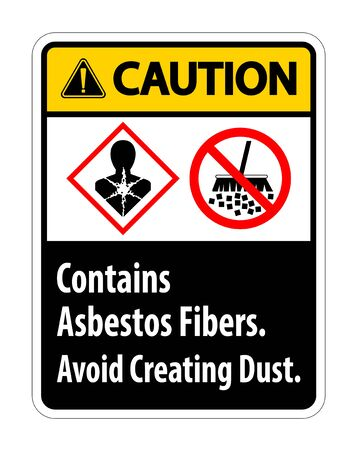 Caution Label Contains Asbestos Fibers,Avoid Creating Dust