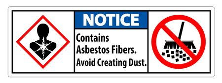 Notice Label Contains Asbestos Fibers,Avoid Creating Dust