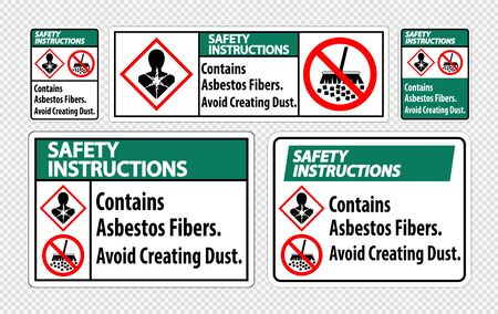 Safety Instructions Label Contains Asbestos Fibers,Avoid Creating Dust
