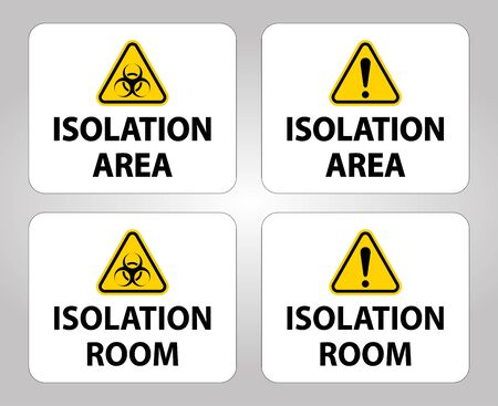 Biohazard Isolation area and room sign On White Background,Vector Illustration Vecteurs