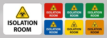 Biohazard Isolation room sign On White Background,Vector Illustration Vectores