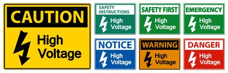 High voltage Sign Isolate On White Background,Vector Illustration EPS.10  向量圖像