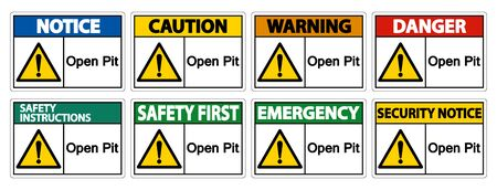 Open Pit Sign Isolate On White Background,Vector Illustration EPS.10