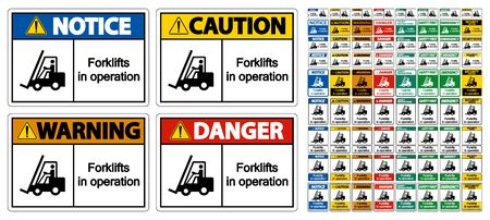 forklifts in operation Symbol Sign Isolate on transparent Background,Vector Illustration   イラスト・ベクター素材