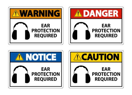 Ear Protection Required Symbol Sign Isolate on transparent Background,Vector Illustration