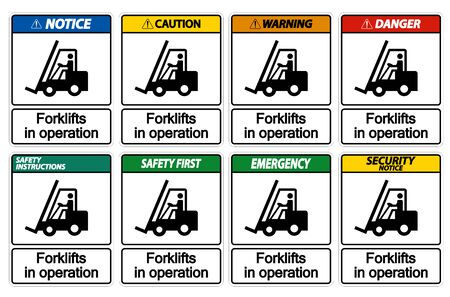 forklifts in operation Symbol Sign Isolate on transparent Background,Vector Illustration