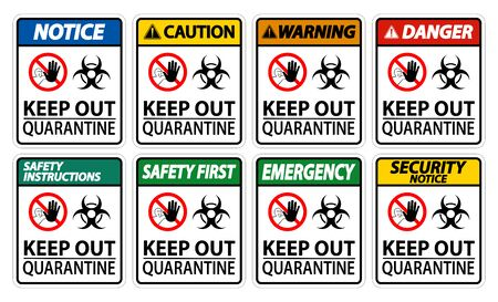 Keep Out Quarantine Sign Isolate On White Background,Vector Illustration EPS.10