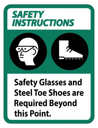 Safety Glasses And Steel Toe Shoes Are Required Beyond This Point