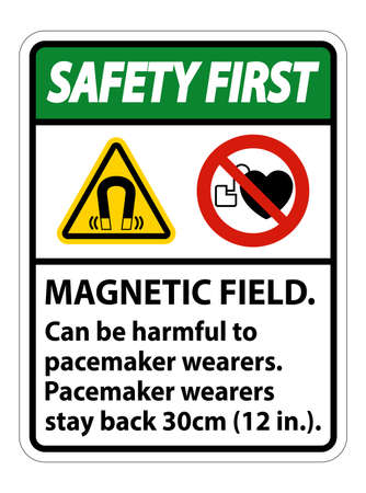 Safety First Magnetic field can be harmful to pacemaker wearers.pacemaker wearers.stay back 30cm Illusztráció