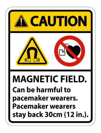 Caution Magnetic field can be harmful to pacemaker wearers.pacemaker wearers.stay back 30cm