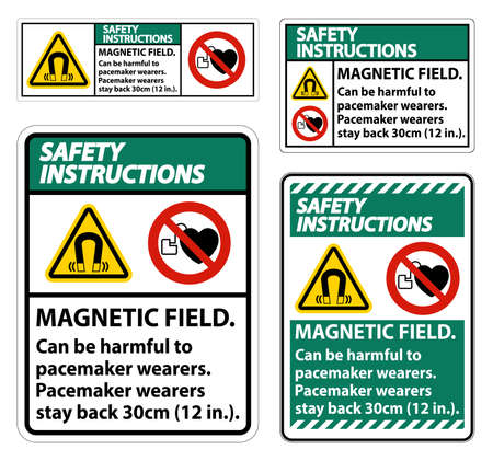 Safety Instructions Magnetic field can be harmful to pacemaker wearers.pacemaker wearers.stay back 30cm