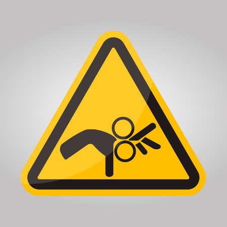 Beware Roller Symbol Sign Isolate On White Background