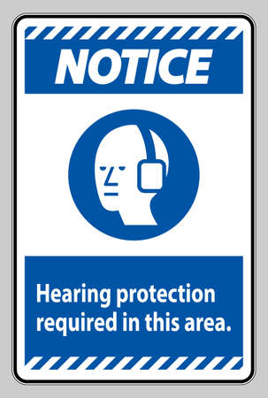 Notice PPE Sign Hearing Protection Required In This Area with Symbol