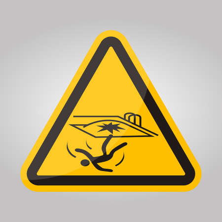 Fall Hazard Symbol Sign Isolate on White Background,Vector Illustration