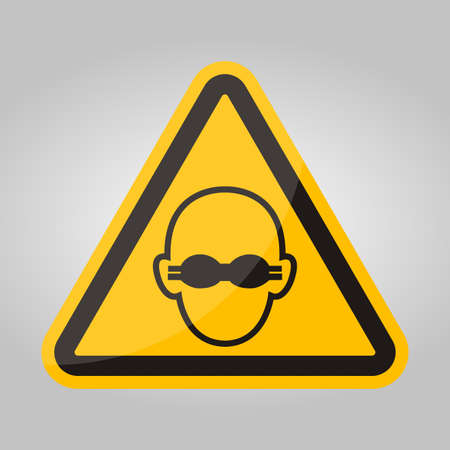 Symbol Wear Opaque Eye Protection Sign Isolate On White Background,Vector Illustration EPS.10 Stock Illustratie
