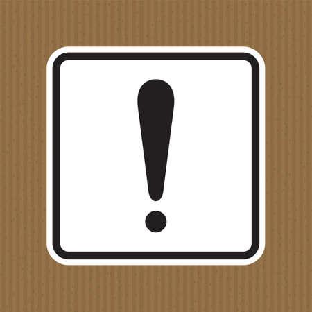 Warning sign Sign Isolate On White Background,Vector Illustration Stock Illustratie