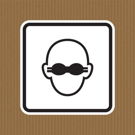 Symbol Wear Opaque Eye Protection Sign Isolate On White Background,Vector Illustration Stock Illustratie