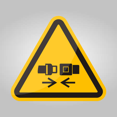 PPE Icon.Wear Safety Belt Symbol Sign Isolate On White Background,Vector Illustration