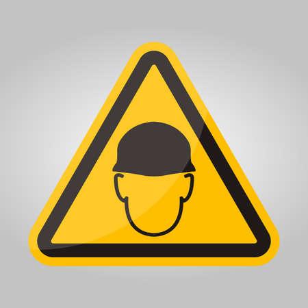 Wear helmet Sign symbol Isolate On White Background,Vector Illustration Stock Illustratie