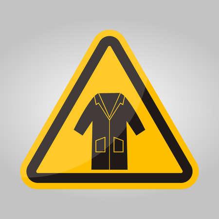 PPE Icon.Wear Smock Symbol Sign Isolate On White Background,Vector Illustration EPS.10 向量圖像