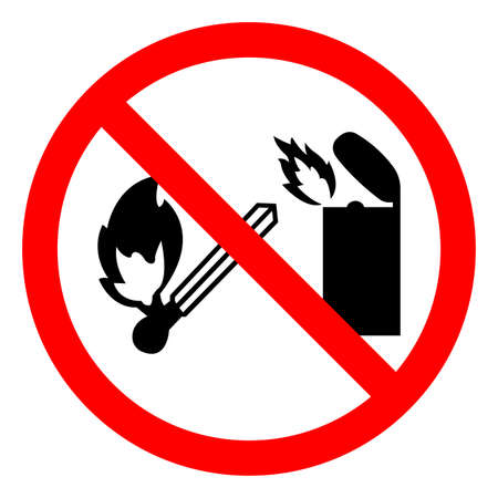 No Lighter Symbol Sign On White Background
