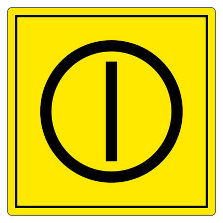 On Off Push-Button Symbol Sign, Vector Illustration, Isolate On White Background Label. EPS10