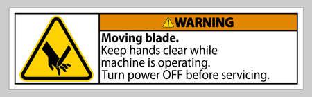 Warning Moving blade Symbol Sign Isolate on White Background