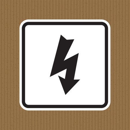 Danger High Voltage Symbol Isolate On White Background,Vector Illustration EPS.10  イラスト・ベクター素材