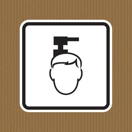 Beware Overhead Hazard Symbol Isolate On White Background,Vector Illustration EPS.10  イラスト・ベクター素材