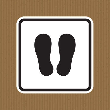 Do Not Walk Or Stand Here Symbol Sign Isolate on White Background,Vector Illustration