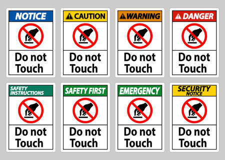 Do Not Touch Symbol Sign Isolate On White Background