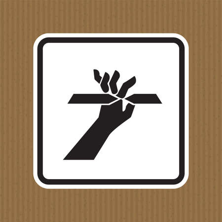 Cutting of Fingers Symbol Sign Isolate on White Background,Vector Illustration  イラスト・ベクター素材