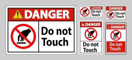 Danger Do Not Touch Symbol Sign Isolate On White Background
