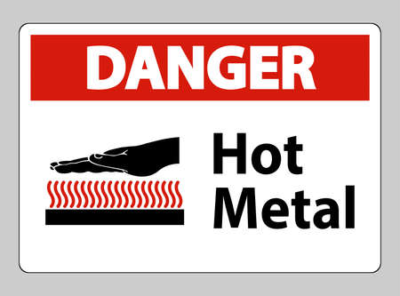 Danger Hot Metal Symbol Sign Isolated On White Background