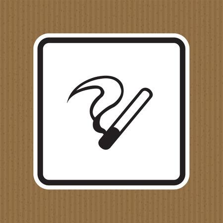No Smoking Symbol Sign Isolate on White Background,Vector Illustration  イラスト・ベクター素材