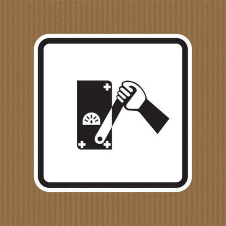 Do Not Touch Men Working Symbol Sign Isolate on White Background,Vector Illustration