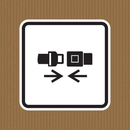 PPE Icon.Wear Safety Belt Symbol Sign Isolate On White Background,Vector Illustration EPS.10