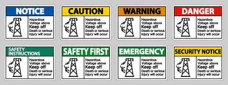 Hazardous Voltage Above Keep Out Death Or Serious Injury Will Occur Symbol Sign