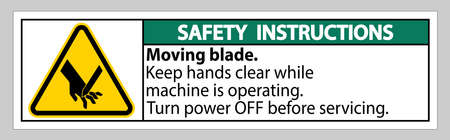 Safety Instructions Moving blade Symbol Sign Isolate on White Background