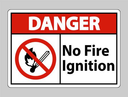Danger No Fire Ignition Symbol Sign On White Background