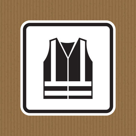 PPE Icon.Wear High Visibilty Clothing Symbol Sign Isolate On White Background,Vector Illustration