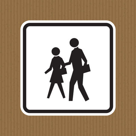 School Zone Symbol Sign Isolate on White Background,Vector Illustration