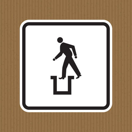 Beware Bottomless Pit Symbol Sign Isolate On White Background,Vector Illustration