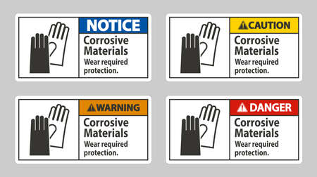 Corrosive Materials, Wear Required Protection