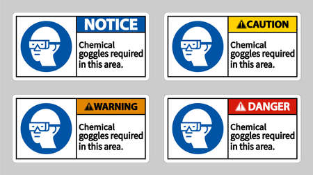 Chemical Goggles Required In This Area