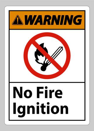 Warning No Fire Ignition Symbol Sign On White Background Ilustracja