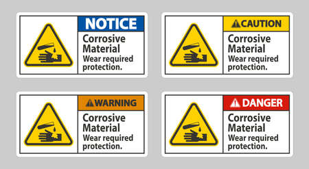 Corrosive Materials,Wear Required Protection