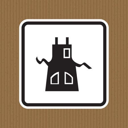 Symbol Wear Apron Isolate On White Background,Vector Illustration