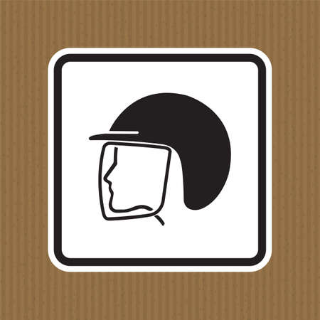 Wear Safety Helmet Symbol Isolate On White Background,Vector Illustration 向量圖像