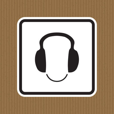 Symbol wear ear protection Sign Isolate On White Background,Vector Illustration